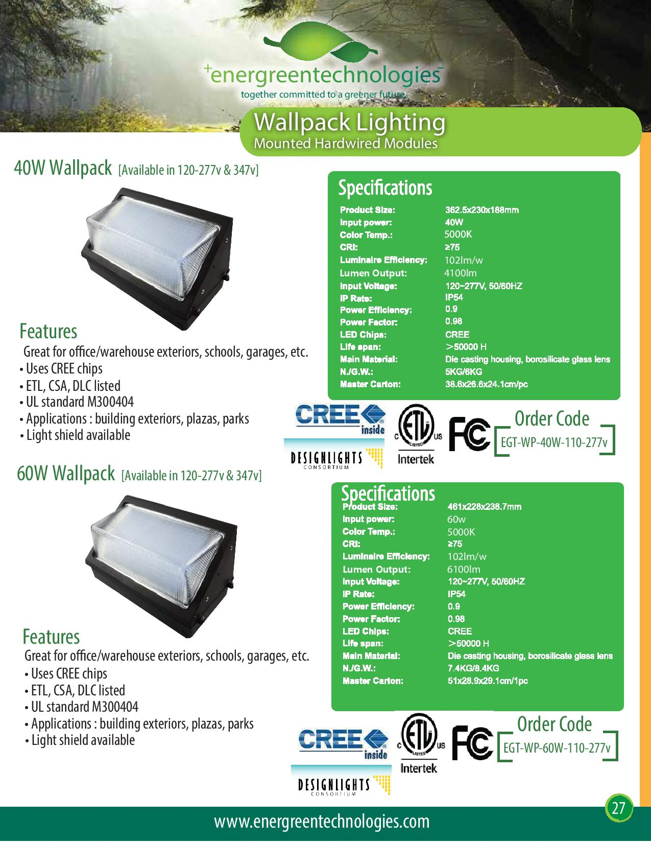 40w led wall pack energreen technologies 40w led wall pack
